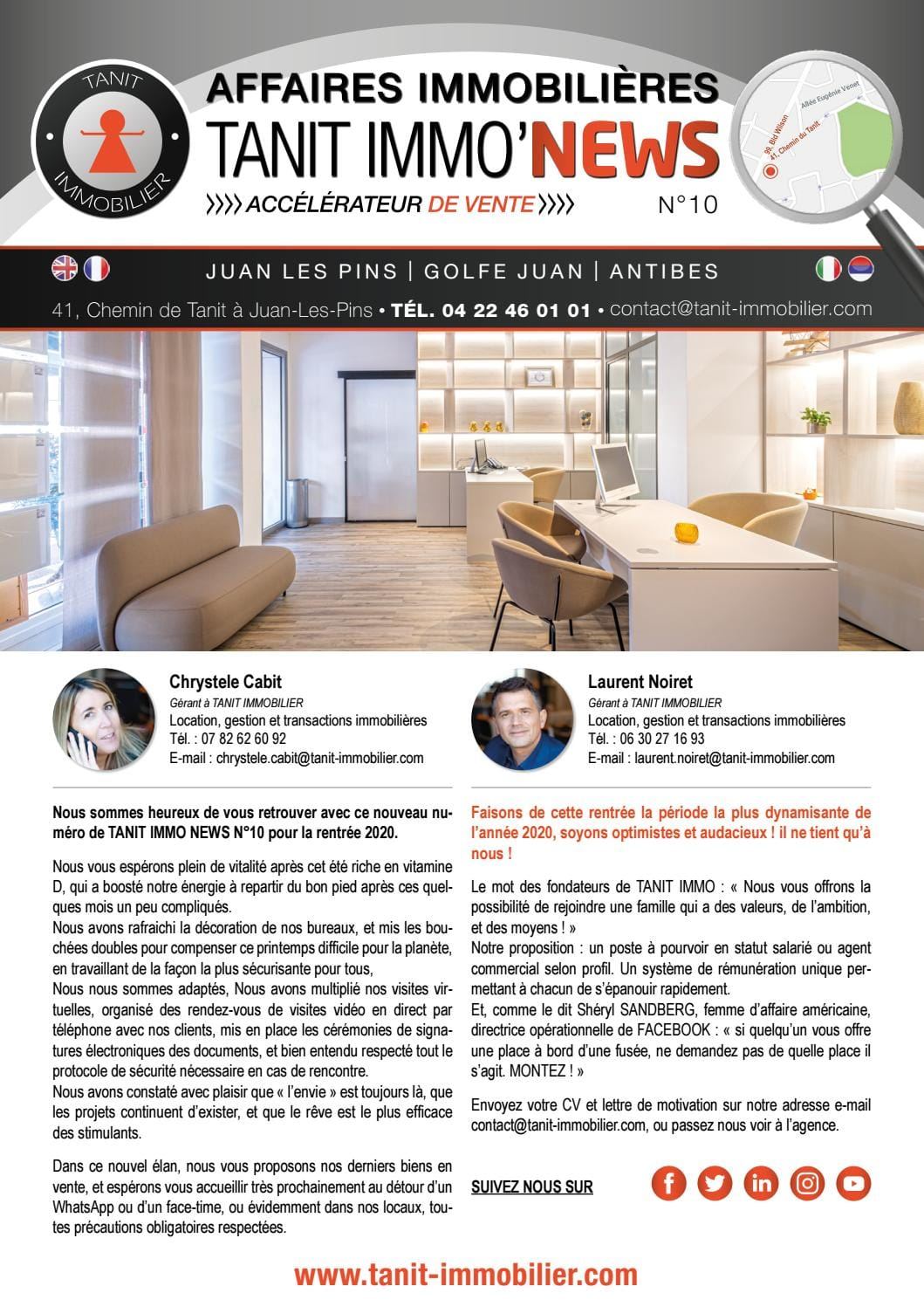 Tanit Immobilier - Magazine Tanit Immo News No 10 - Septembre 2020