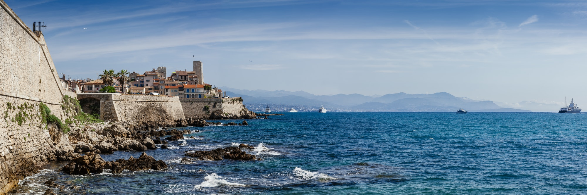 Panoramic of Antibes, France
